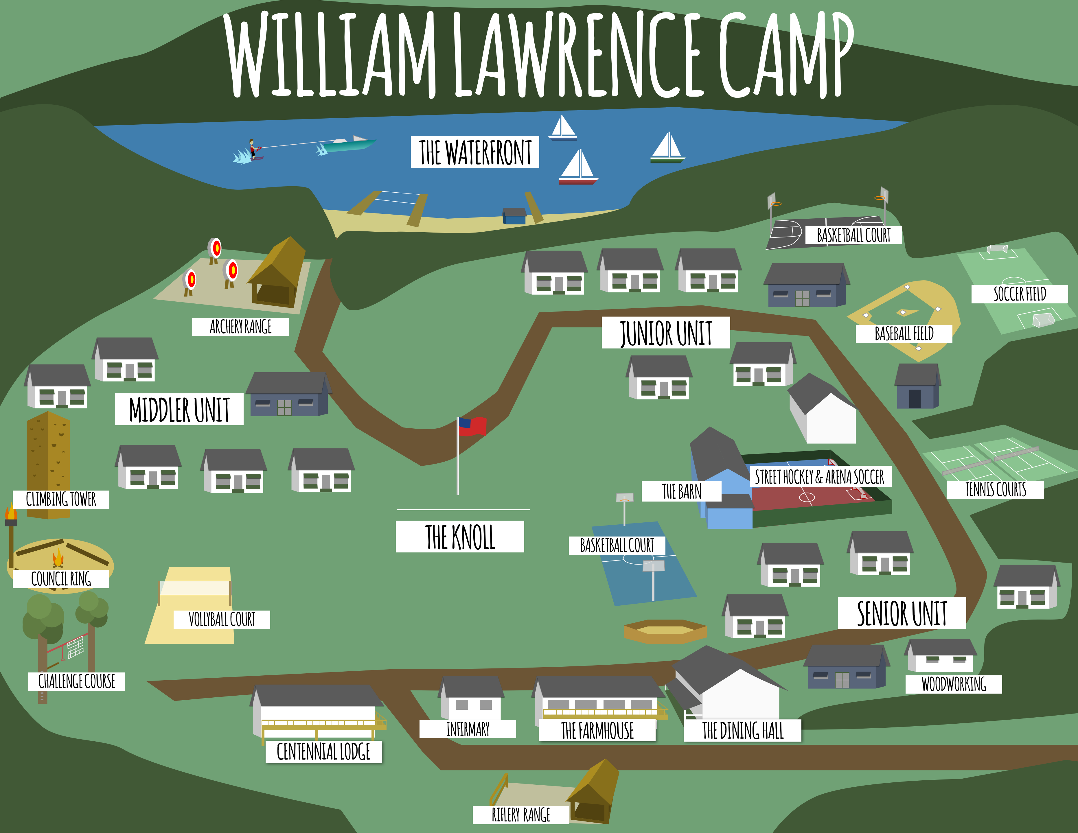 overview map of william lawrence camp
